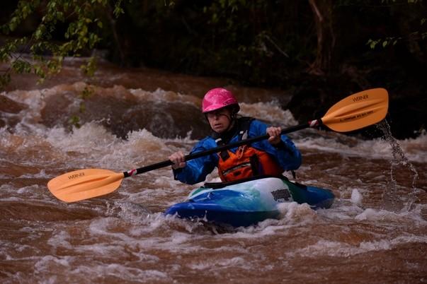 Linda on the rapids